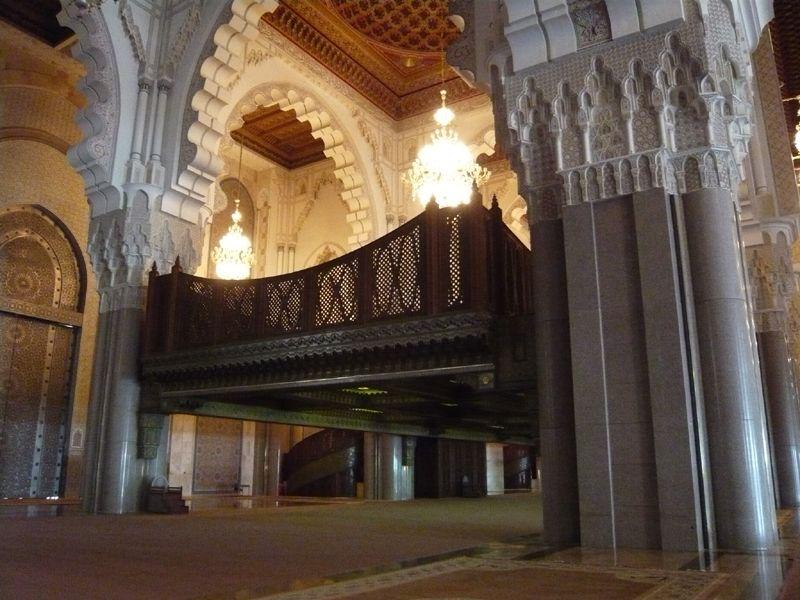 Роскошь внутри Мечети Хасана II