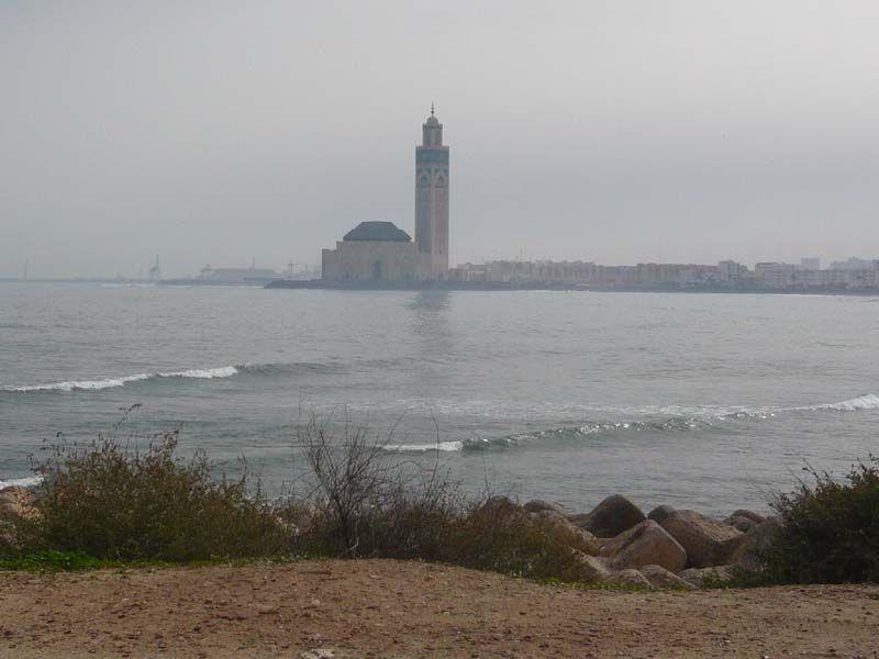 Вид на Атлантику и Мечеть Хасана II